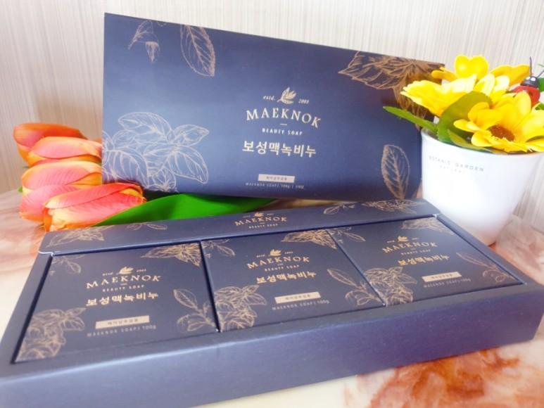 보성맥녹비누 (100gx3개입) 클렌징 천연 세안 바디 헤어 답례품 선물세트