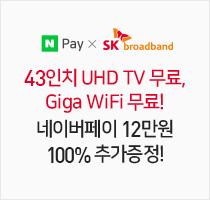 SKB 인터넷 B tv 신규가입 시 네이퍼페이 12만원 증정