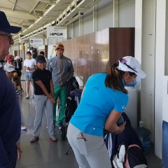 JASON'S HPGA주니어골프아카데미 에서 훈련하는 LPGA 마리나 알렉스 선수