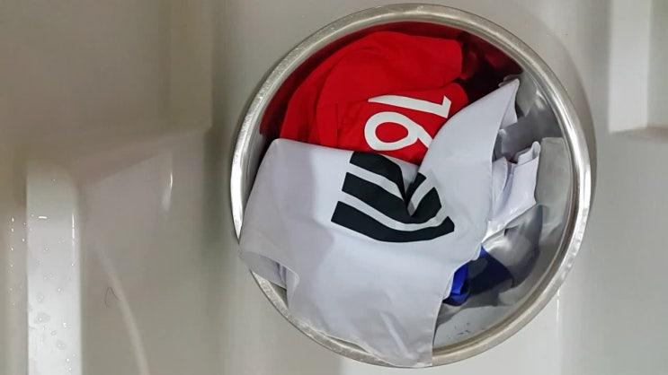 축구 국가대표 홈 유니폼, 태극기 세탁 (빨래~ 끝^^)