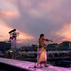 [양양비치마켓공연] 바람이 불어 오는 곳_바이올린연주