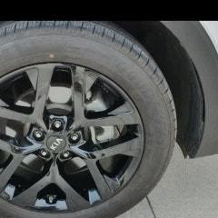 국산차 휠도색 비용 소렌토 블랙유광 휠도색 휠수리!