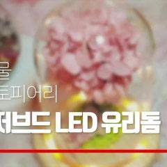 기념일 꽃선물추천 프리저브드플라워 보존화 LED 유리돔 수국 토피어리