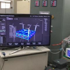 파력-해상풍력 연계형 발전 통합제어기술(복합발전) 소개 및 시연 동영상