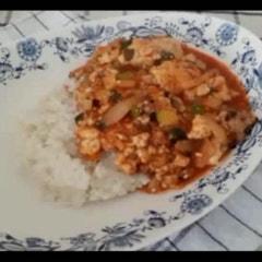 냉파요리 _ 마파두부덮밥