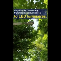 [VitaminLED] Very simply converting from traditional luminaires to LED luminaires. (비타민엔진 설치영상 영문자막)