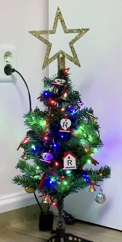 다이소) 요가매트 5mm, 크리스마스 트리, 크리스마스 장식, 크리스마스 전구