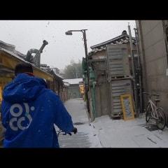눈이와도 아무리 추워도 아띠인력거는 여러분의 여행을 위해 항상 대기하고 있습니다.