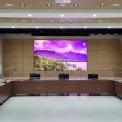 삼성LED전광판, 창원대학교 대회의실 통합 디스플레이 시스템을 구축하다!