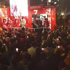 D-Day 1 마지막 유세] 서울시장선거 국가혁명당 7번 허경영 후보의 건대입구역 20시. 성황리에 마무리. 국민이여 내일 아침에는 진정 깨어나시라!