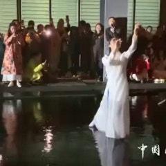 중국 항주의 장인대학 공연무대