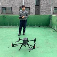 엑스캅터 DJI 매트리스 300 RTK 호버링 비행 테스트