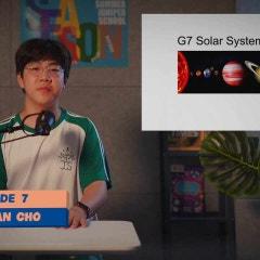 주니퍼크리스천스쿨 중등 7학년 과학 (우주 시스템) 발표