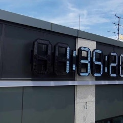 영종도 공항 신도시 최초 디지털 시계간판 제작, 시공