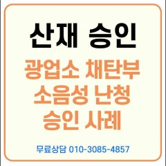 [산재승인] 채탄 후산부 소음성난청 산재 승인사례