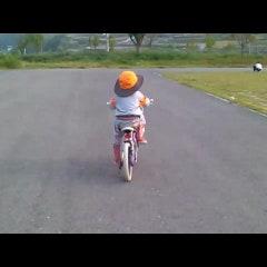 민경이 자전거 배우기