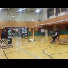 휠체어 배드민턴 레슨 모습입니다./장애인스포츠/장애인재활/휠체어스포츠