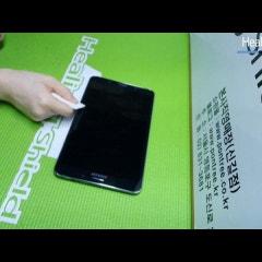 힐링쉴드 갤럭시 탭4 8.0 액정보호필름 외부보호필름 부착동영상
