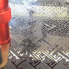 4합 한지 레이저 커팅:문양 조각