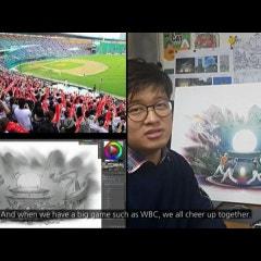 ESPN Deportes WBC 2017 Art works South korea 風園 - 월드베이스볼클래식 2017 한국아티스트 KAZE PARK movie - 4BD studio 포비디