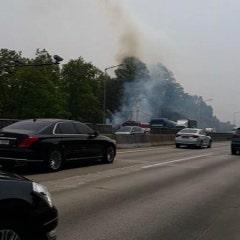 산불 조심합니다!(오늘 오전 12시 경 외곽순환도로 일산 방면 산불 화재)