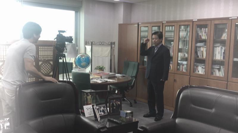 마포구 사회복지대회 축하영상을 촬영했습니다