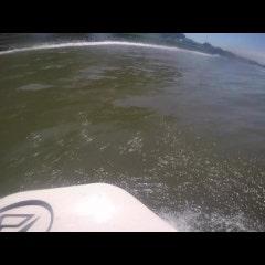규슈지역의 가고시마에서의 서핑 영상