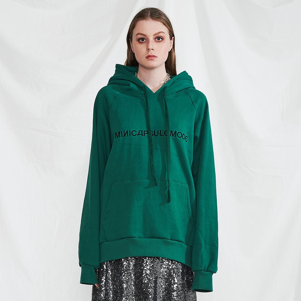 디자이너윈도 - 권순형 MINI CAPSULE[[미니캡슐모드]Basic logo hoodie (green)] - 네이버쇼핑
