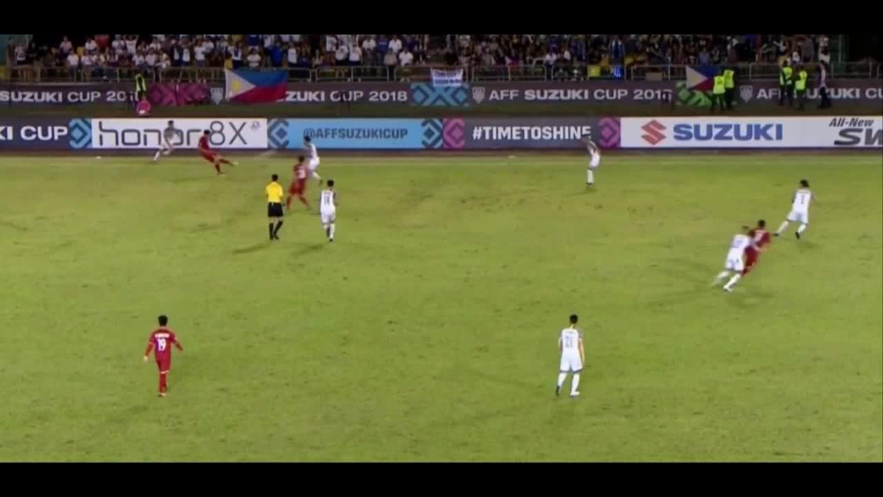 베트남 축구 필리핀에 2대1 승리 하이라이트(2018스즈키컵)