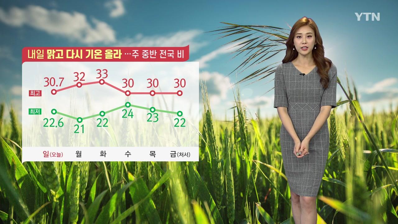 [날씨] 내일 맑고 다시 기온…