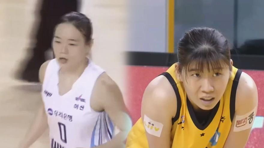 장군멍군' 서로 3점을 주고받는 김진희-김민정