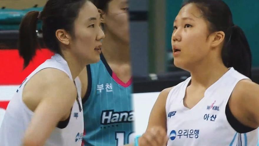 박혜진-박지현의 연속 득점으로 승기를 굳혀가는 우리은행